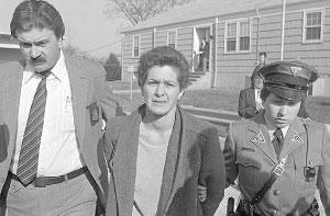 Susan Rosenberg just before her arraignment in 1984