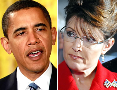 Barack Obama and Sarah Palin