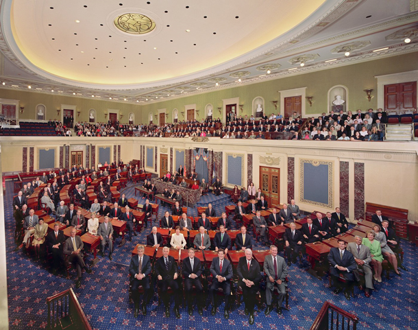 The United States Senate in the Senate Chamber, 108th Congress, 2003
