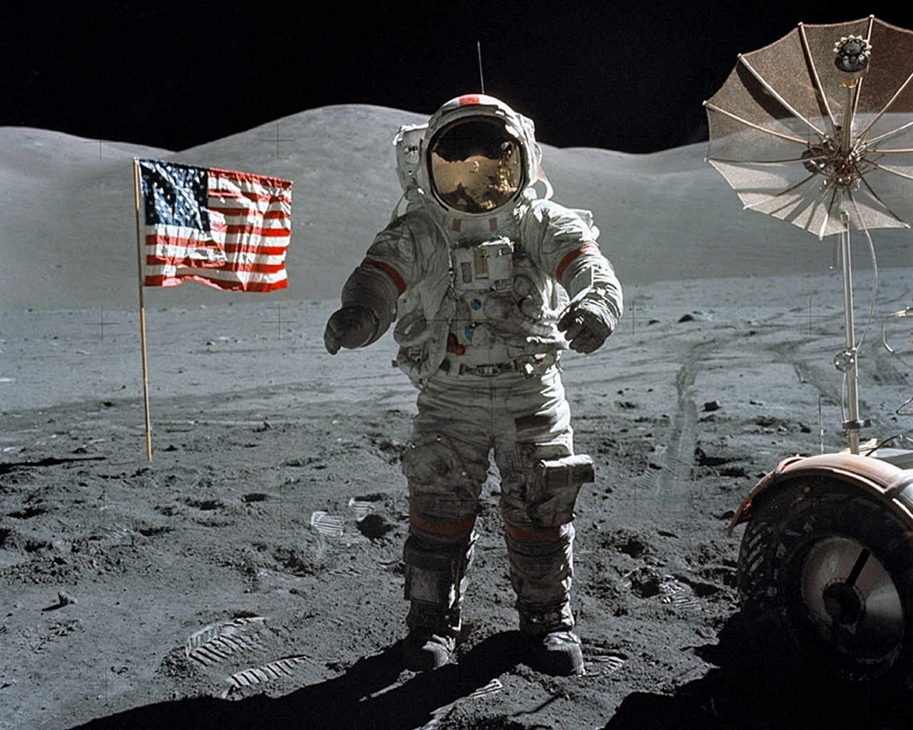 Last moonwalk Apollo 17